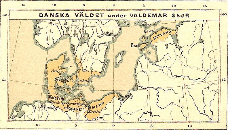 mapa reinado de Valdemar I.com